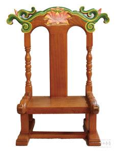 사진 위패 (의자형) 단청 (가로40cm, 세로20cm, 높이47cm)