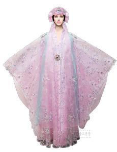 공주 선녀복 (분홍)- 두건, 선녀가방 포함